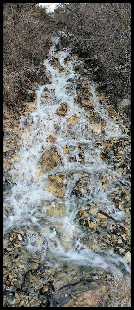 Bonus Waterfall from the Natural Spring Bursting