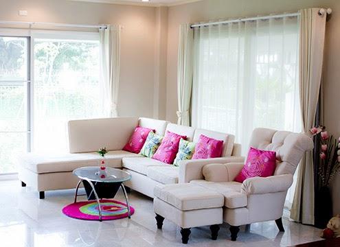 蛇行簾|雙層蛇行簾非常適合用於客廳