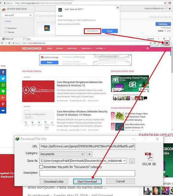 Cara Mendownload/Convert Halaman Web menjadi PDF