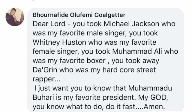 Message to Muhammadu Buhari