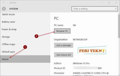 Cara Mengganti Nama Komputer - Feri Tekno