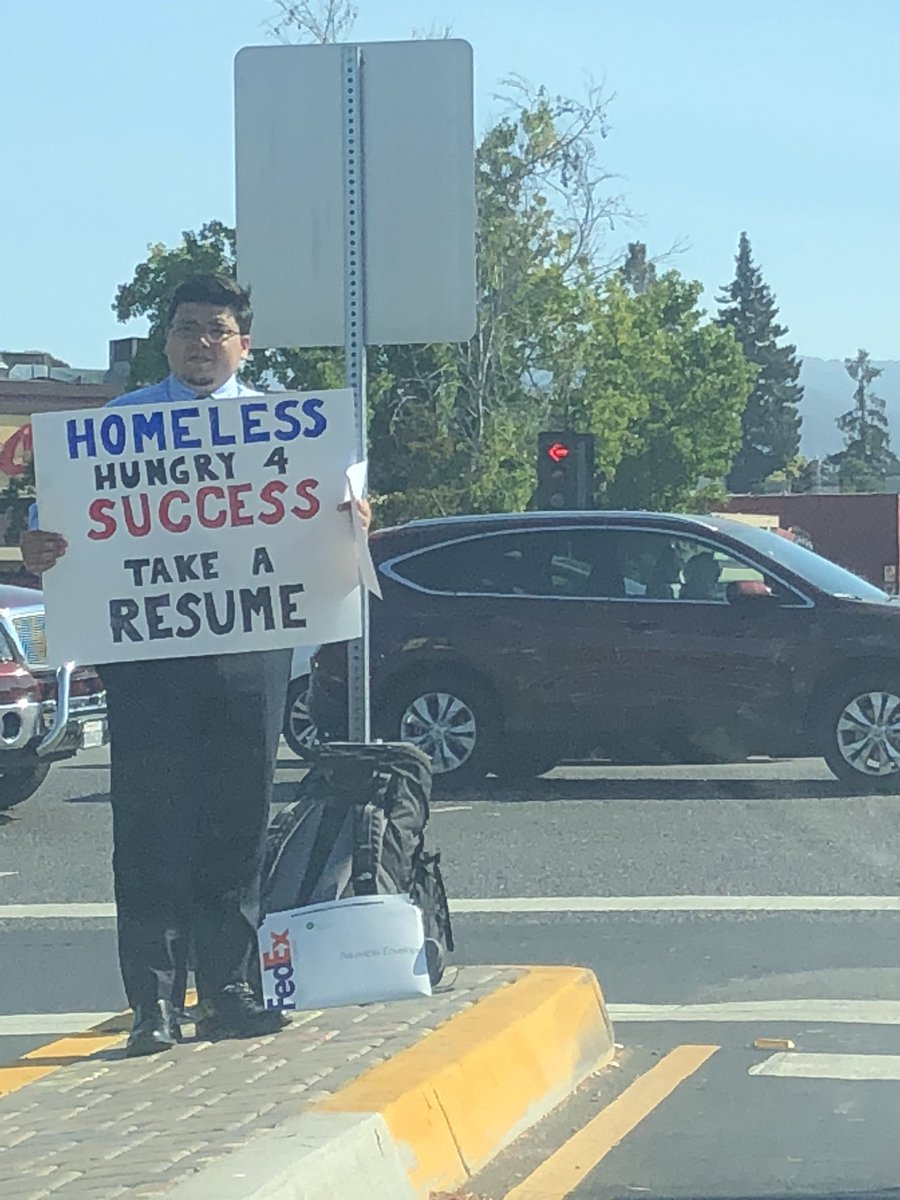 Homeless guy's clever idea leads to job offer from Google, hundreds of companies