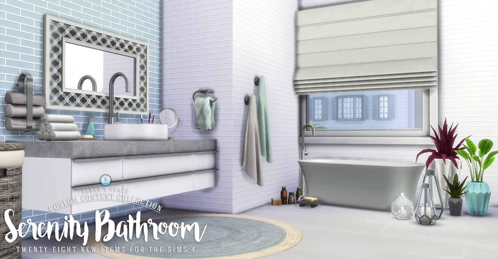 You may request that your data not be shared with third. My Sims 4 Blog: Updated - Serenity Bathroom Set - 28 New ...