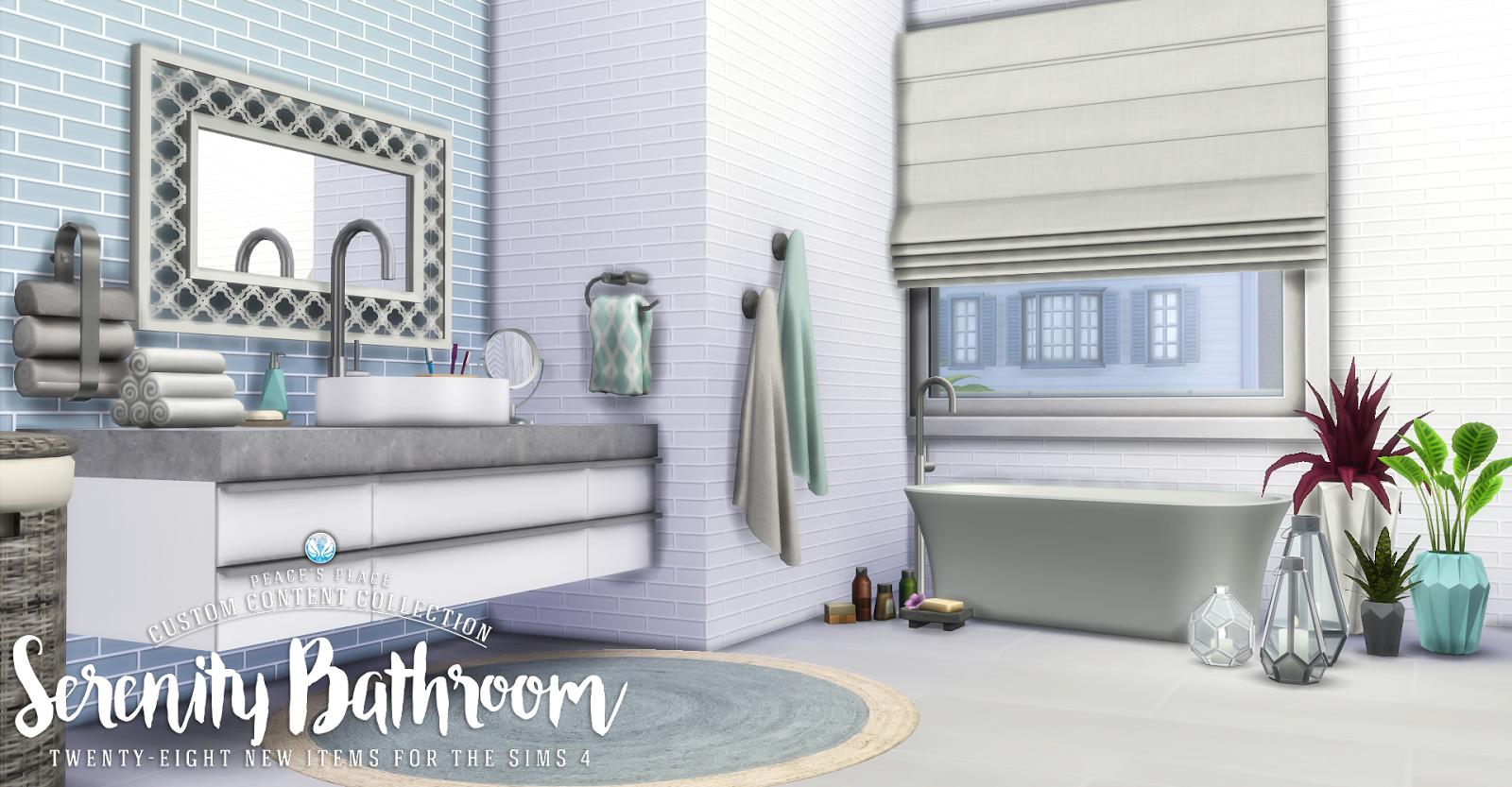 My sims 4 blog updated serenity bathroom set 28 new for Bathroom ideas sims 4