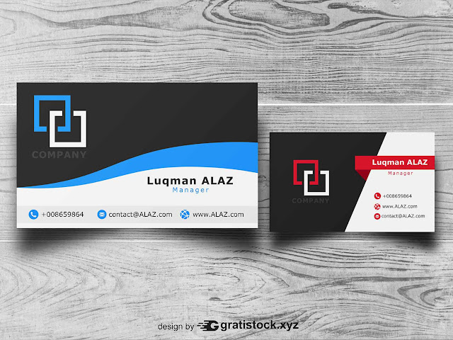 Free Download PSD Businnes Card On Wooden Background.