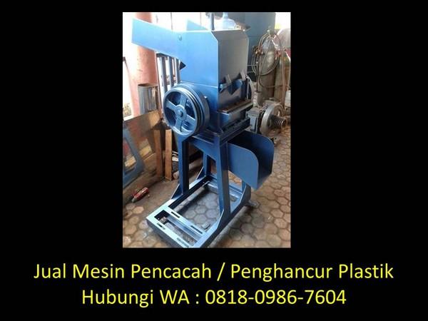 perancangan mesin penghancur plastik di bandung