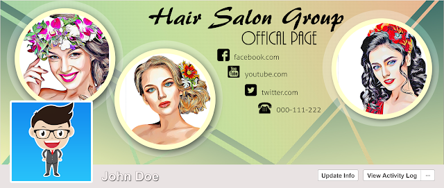 Download FREE PSD Facebook Timeline Cover design for Salon and Fashion Free for Personal and Commercial use