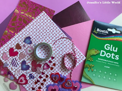 Bostik bloggers craft materials for Valentine's Day