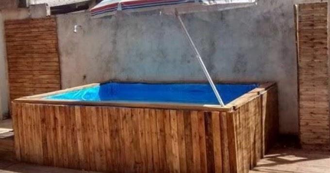 Decorar com carlos costa piscina de pallet passo a passo for Piscina para criar peces