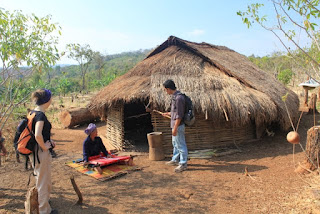 Traditional Bunong house visit during a tour
