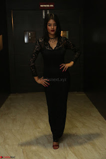 Actress Monica in spicy transparent Black Top at O Pilla Nee Valla Movie Audio Launch Feb 2017 043.JPG