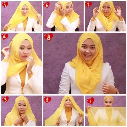 Tutorial Hijab Segi Empat Simple Beauty D