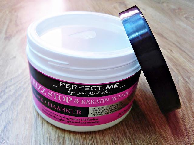 PERFECT.ME, Frizz Stop & Keratin Repair - Maska wygładzająca do włosów puszących się, otwarcie opakowania