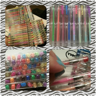 US Art Supply Jewelescent 144 Gel Pen Set collage
