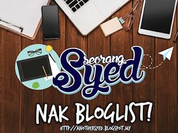 Segmen: Seorang Syed Nak Bloglist!