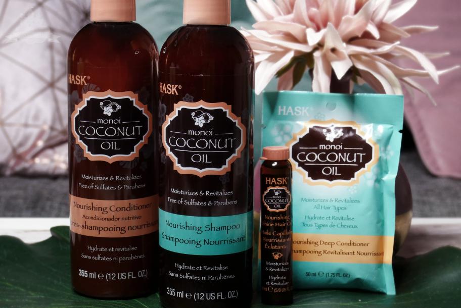 1 Monat Hask Monoi Coconut Oil Pflegeserie