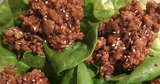 LETTUCE WRAP WITH LEE KUM LEE LETTUCE WRAP SAUCE