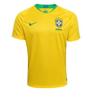 Camisa Seleção Brasil I 2018 s/n° - Torcedor Nike Masculina - Amarelo e Verde