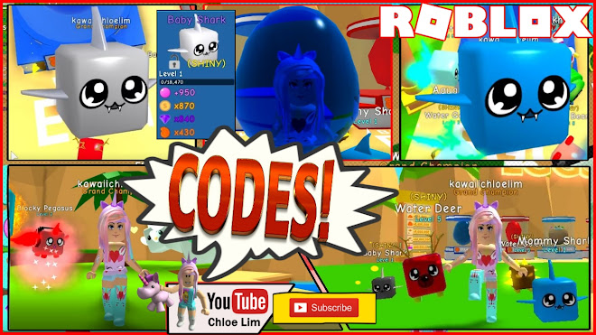 Roblox Bubble Gum Simulator Gameplay! NEW Codes that gives 35 minutes of 2X LUCK and Hatch Speed! Baby Shark Doo Doo Doo Doo Doo!