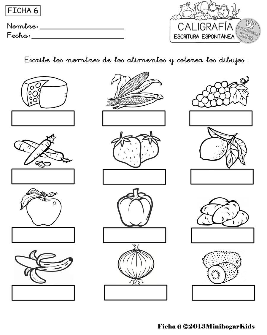 Alimentos En Ingles Para Colorear Frutas En Ingles Para