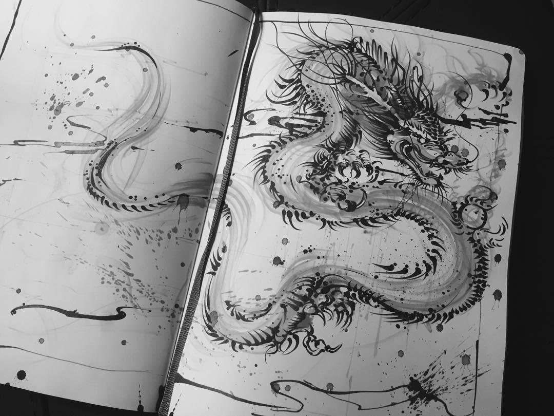 04-Dragon-Sketch-Hua-Tunan-Animal-Sketch-Drawings-and-Mural-Paintings-www-designstack-co