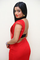Aasma Syed in Red Saree Sleeveless Black Choli Spicy Pics ~  Exclusive Celebrities Galleries 062.jpg