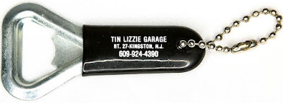The Tin Lizzy Garage bottle opener Kingston, New Jersey
