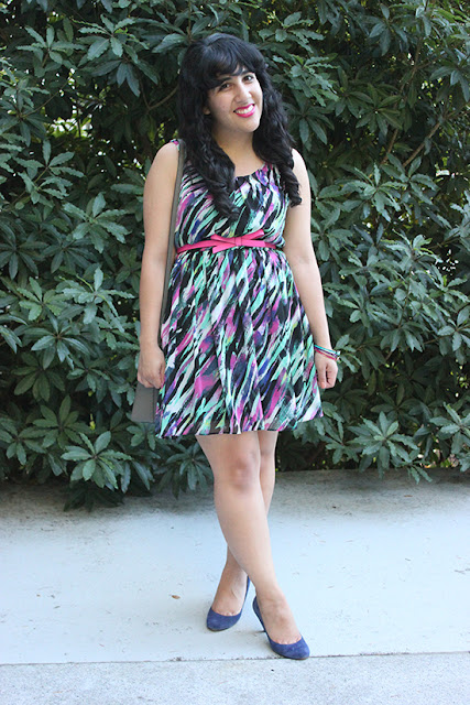 BYER CA Print Dress SF Blogger Style