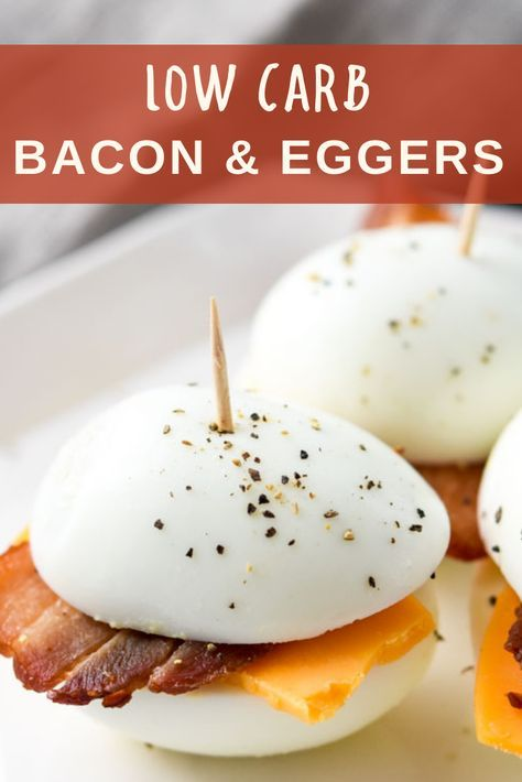 A perfect breakfast meal prep idea where you can prep your 3 ingredients once, and have low carb bacon & eggers all week!