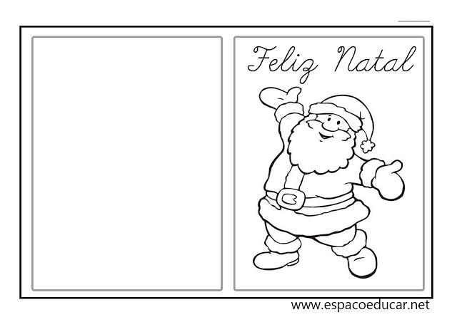 Modelos De Cartões De Natal Para Imprimir E Colorir