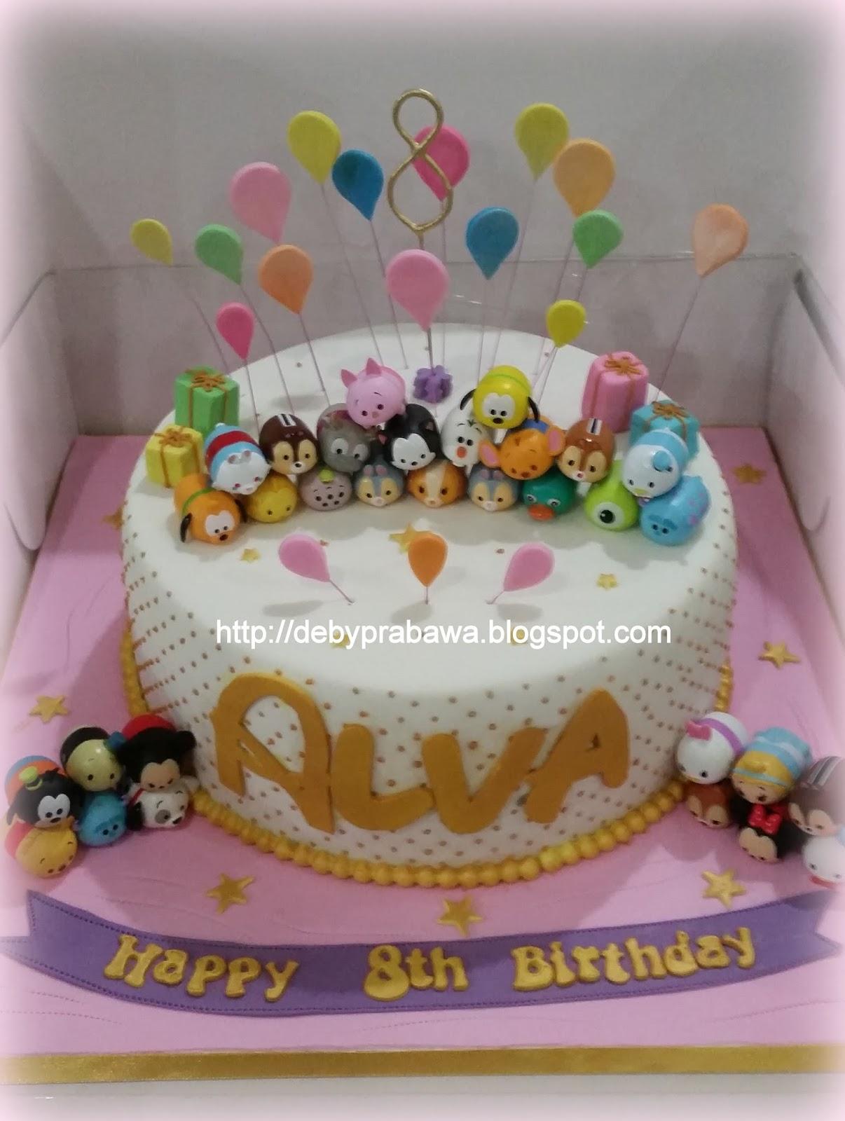 Butterfly Cake Tsum Tsum Cake For Alva