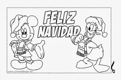 tarjetas de navidad para colorear publicado por rosa en