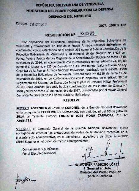 Decersion o Carcel para los Militares Venezolanos