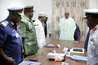 buhari sacks military chiefs