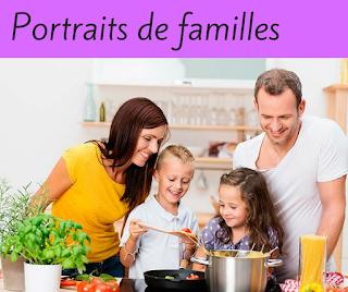 Portraits de familles en cuisine