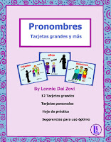 Spanish subject pronouns cards with visual hints for the tricky pronouns and instructions on ways to teach them better