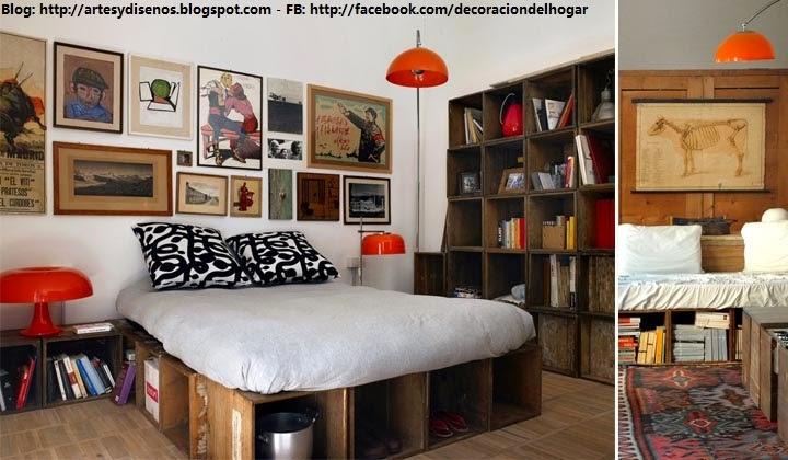 Imagenes de muebles de madera para el hogar - Decoracion con cajas de madera de frutas ...
