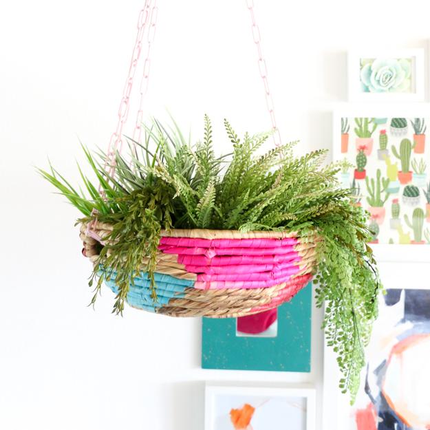 DIY It – A Simple Hanging Basket Planter