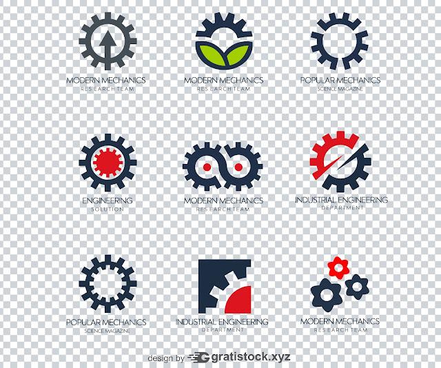 Free PSD Logos - Logo Industri Modern Mecahanics