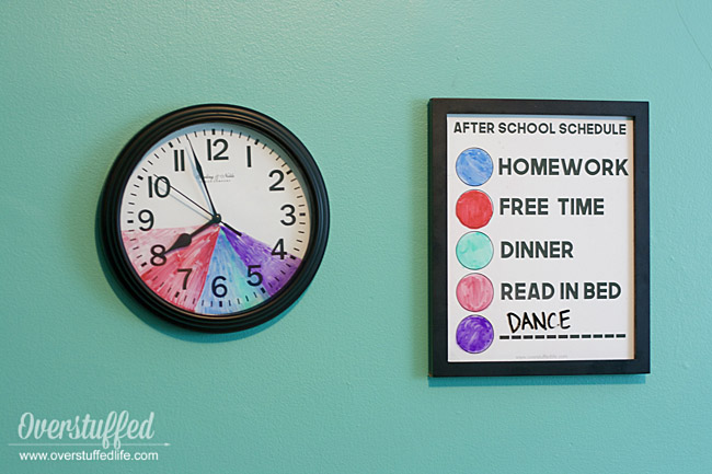 photograph relating to After School Schedule Printable titled The moment University Agenda Clock for Young children With Aspect Schedules