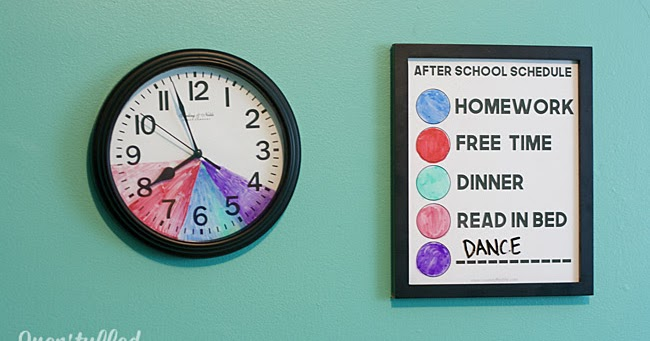 after school routine clock for kids with variable