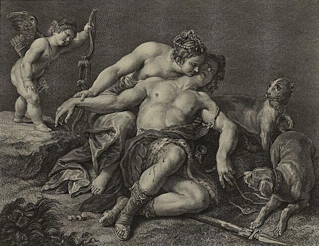 Alessandro Turchi - Venere e Adone - arte - erotismo
