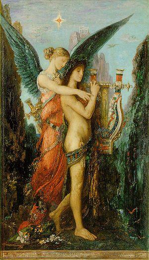 Gustave Moreau, Hésiode et la muse, 1891