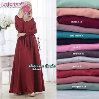 Gamis Michan Hijab Nisrina Basic 13 Peach