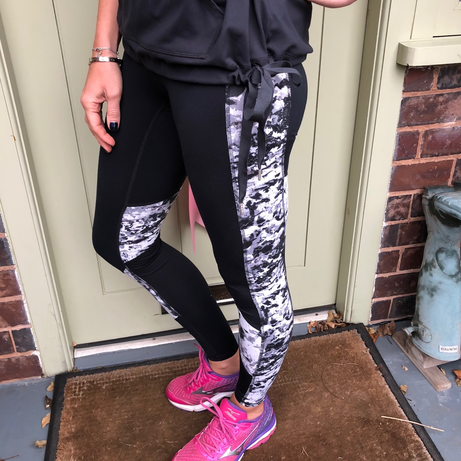 my midlife fashion, tesco f and f activewear clothing, tesco f and f clothing active soft touch hoodie, tesco f and f clothing active mesh insert t shirt, tesco f and f clothing active mottle print leggings