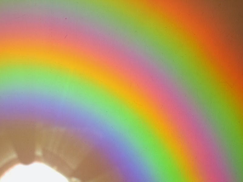Make rainbows using CDs