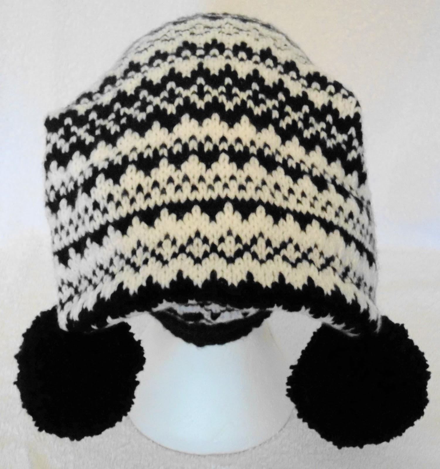 Norwegian Stripe Ski Hat. Designer Hand Knitting Pattern.
