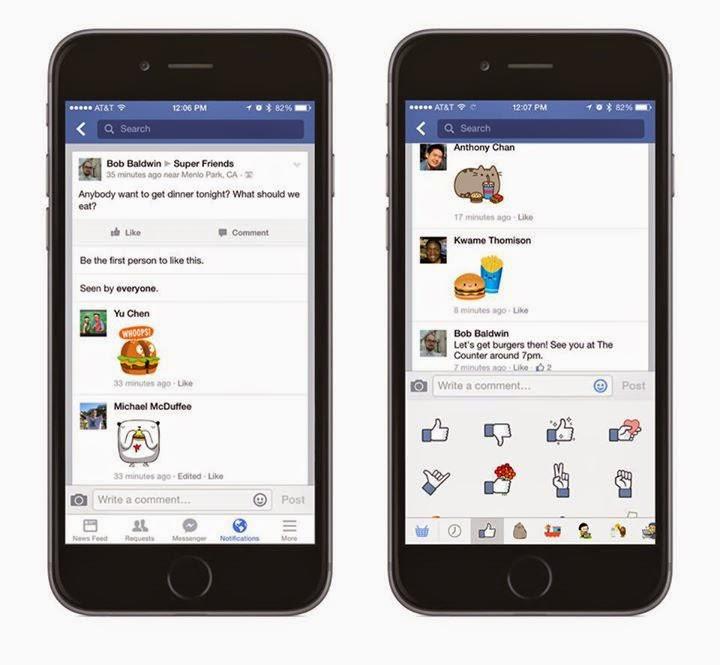 Facebook擴大貼圖使用範圍,讓留言變得更有趣!