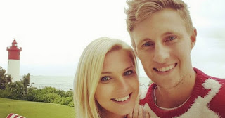 Joe Root and his wife Carrie Cotterell