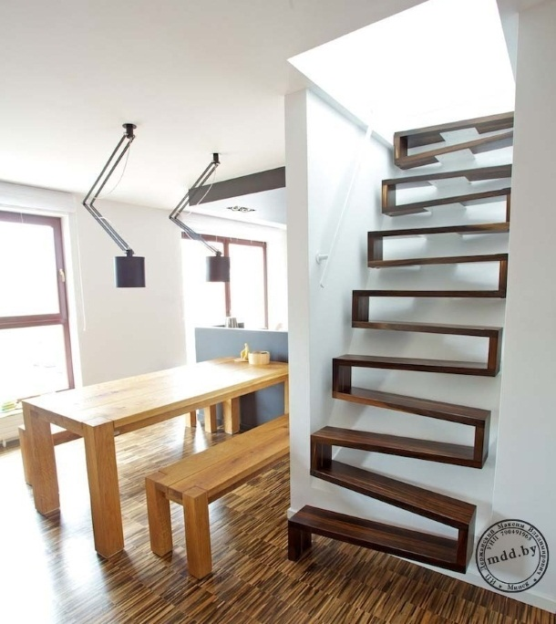 лестница утиный шаг